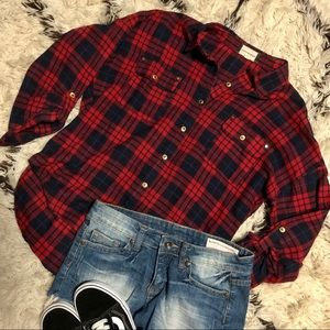 Boutique flannel with gold accents